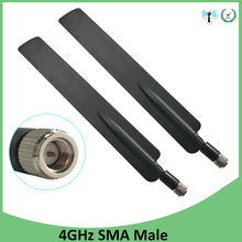 20pcs 3G 4G LTE Antenna SMA male Connector 10DBI Antenne 698~960MHz /1710~2690MHz For Huawei Wireless Router modem repeater цена