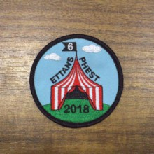 Personalised Logo Custom Made Patch Badges for promotional gift giveaway Embroidered With Fastner 10
