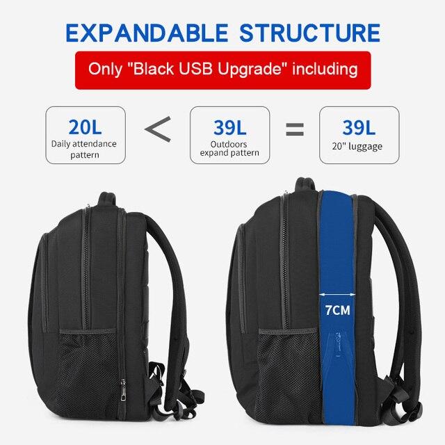 حقيبة ظهر من tigerنو مضادة للسرقة نايلون 27L للرجال مقاس 15.6 بوصة حقيبة مدرسية عصرية للسفر للرجال حقيبة مدرسية نسائية غير رسمية 6