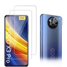 4IN1 Screen Protector Glass+Camera Film For Xiaomi Redmi 10 10S 9 9S 9T 8T 8 Pro Max 8A 9A 9C 9AT Mi Poco X3 NFC M3 10T Pro Lite