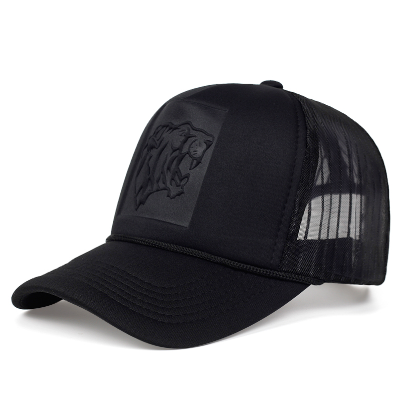 2019 Hip Hop Black Leopard Print Curved Baseball Caps Summer Mesh Snapback Hats For Women Men Casquette Trucker Cap