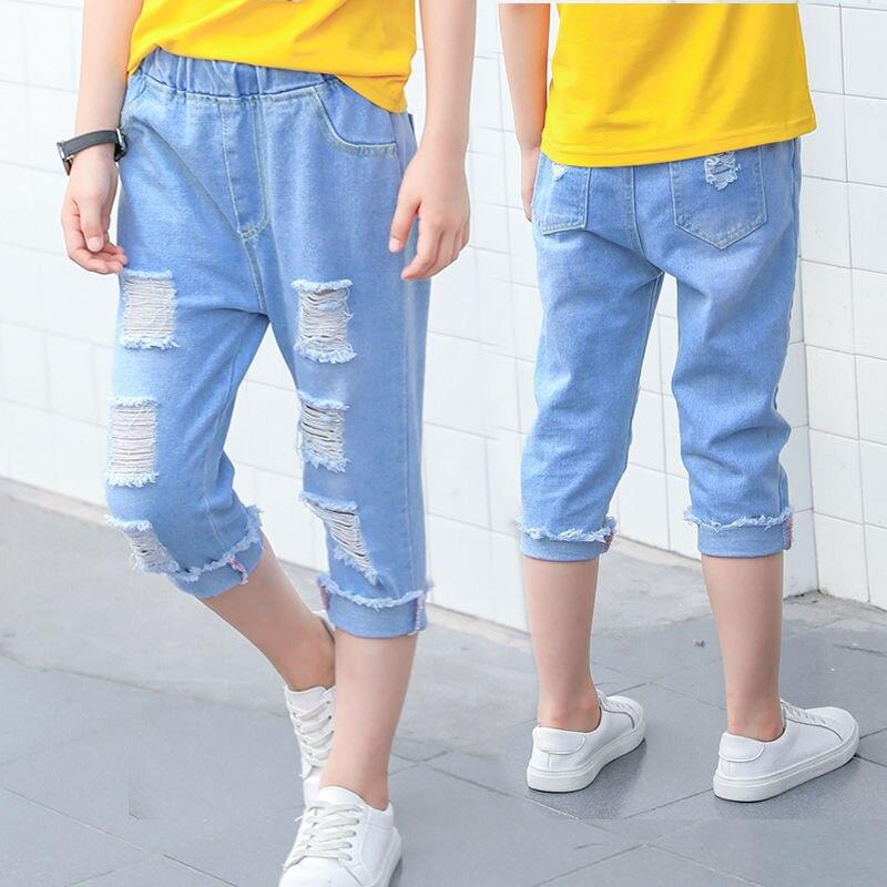 Venda quente meninos jeans 4-13 anos de
