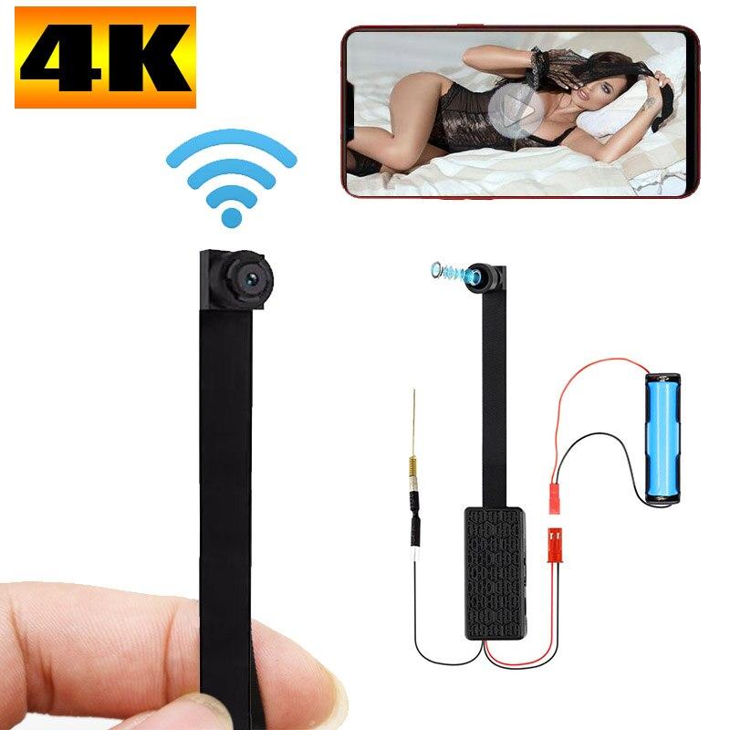 HD 4K FAI DA TE Portatile WiFi IP Mini Macchina Fotografica di visione notturna Vista A Distanza P2P Senza Fili Micro Webcam Wearable Video Registratore supporto 128g