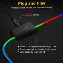 Podkładka pod mysz z podświetleniem RGB