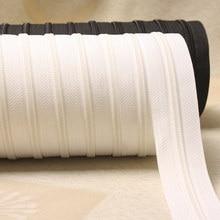 Costura de edredon, capa duvet de nylon 3 # com zíper longo e 5 metros, almofada dupla invisível zíper preto e branco