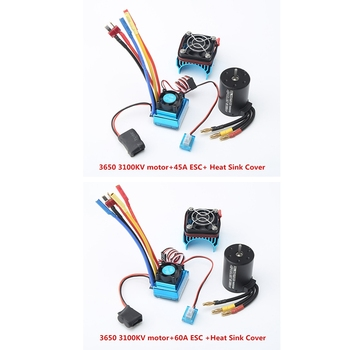 3650 3100Kv Brushless Motor & Esc with Radiator Combo for 1:10 Rc Car Rc Boat Part hobbywing rc switch for ezrun max5 max6 max8 xr8 max10 sct waterproof brushless esc for rc car