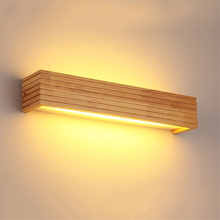 Modern Japan Style Led Oak wooden Wall Lamps Lights Bedroom Bed lamp bathroom Home Wall Sconce solid wood wall light fixtures