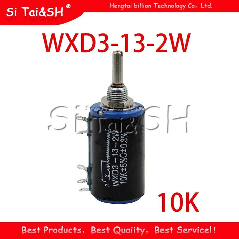 1 шт. WXD3-13-2W 10K ohm WXD3-13 2 Вт Поворотный многооборотный потенциометр с поворотной стороной
