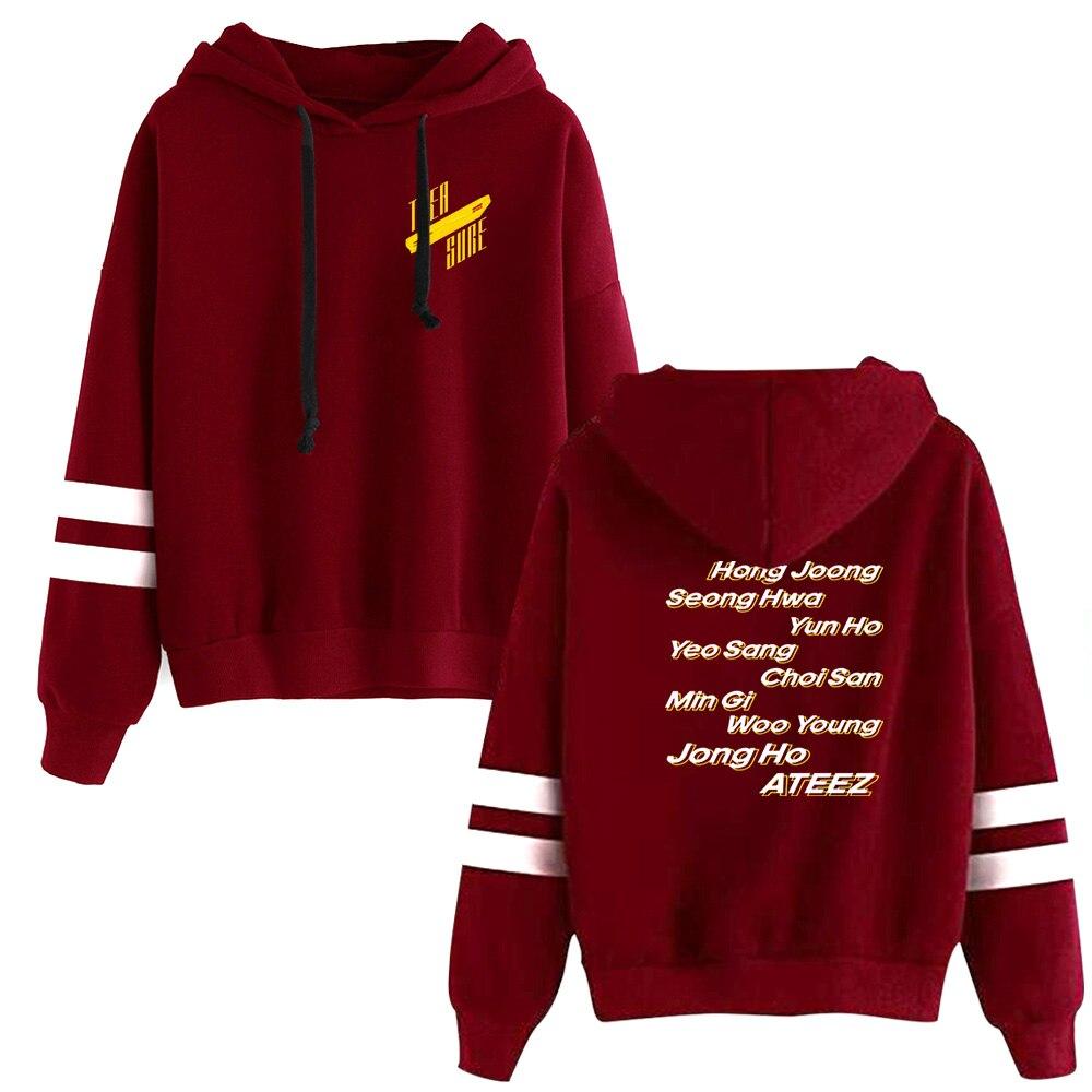 WAMNI KPOP Fans ATEEZ Hoodie Women Clothing Funny Ladies Jpop Hoodies Sweatshirts Hip Hop Polyester/cotton Harajuku Tracksuit