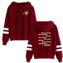 WAMNI KPOP fans ATEEZ hoodie Women Clothing Funny ladies Jpop Hoodies