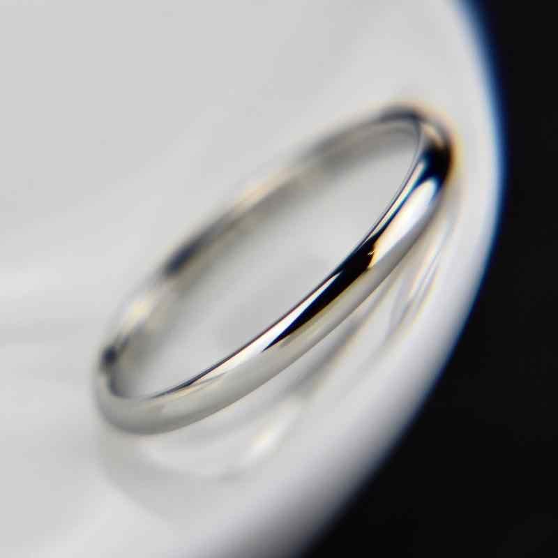 1 pc venda quente titânio aço rosa anel de ouro anti-alergia suave simples casamento anéis de casais para mulheres presente de jóias