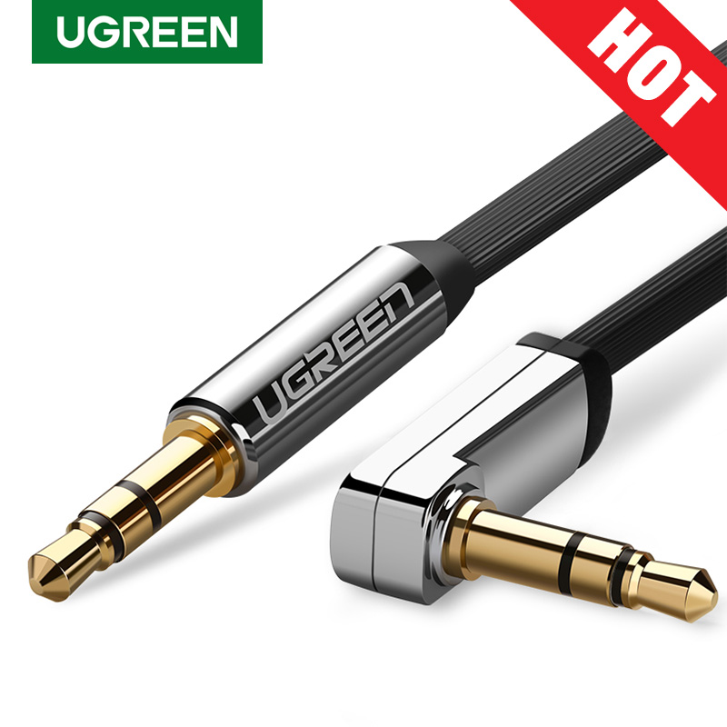 Ugreen AUX kablosu Jack 3.5mm ses kablosu 3.5mm Jack hoparlör kablosu JBL kulaklıklar araba Xiaomi redmi 5 artı Oneplus 5t AUX kablosu