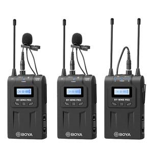 BOYA BY-WM8 Pro K1/K2-Sistema de micrófono condensador, inalámbrico, receptor de grabadora de Audio y vídeo para cámara Canon, Nikon y Sony