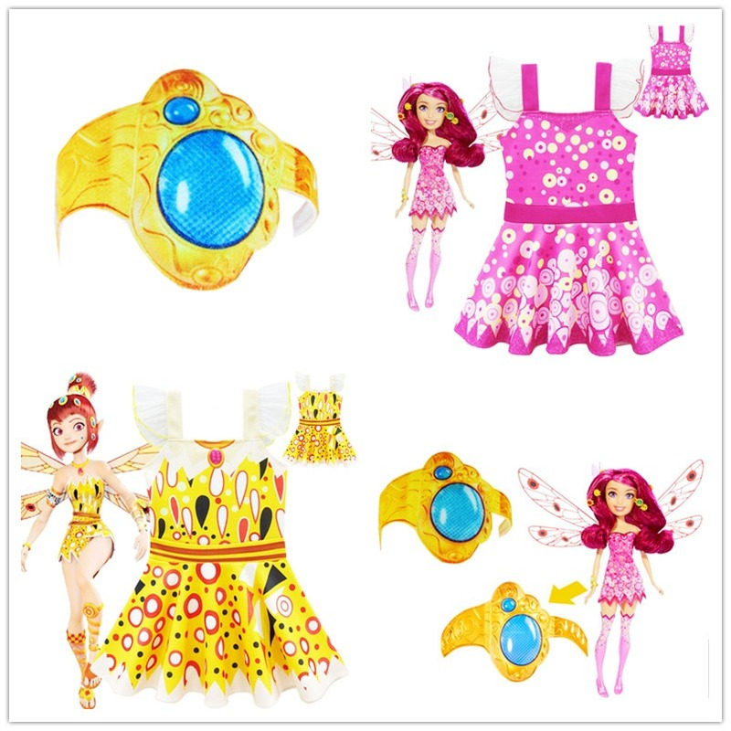 Halloween Costume Girl Mia And MIA Bracelet Costume Set Mia Cosplay Kid Wig Children Birthday Party Carnival Girls Wings Clothes