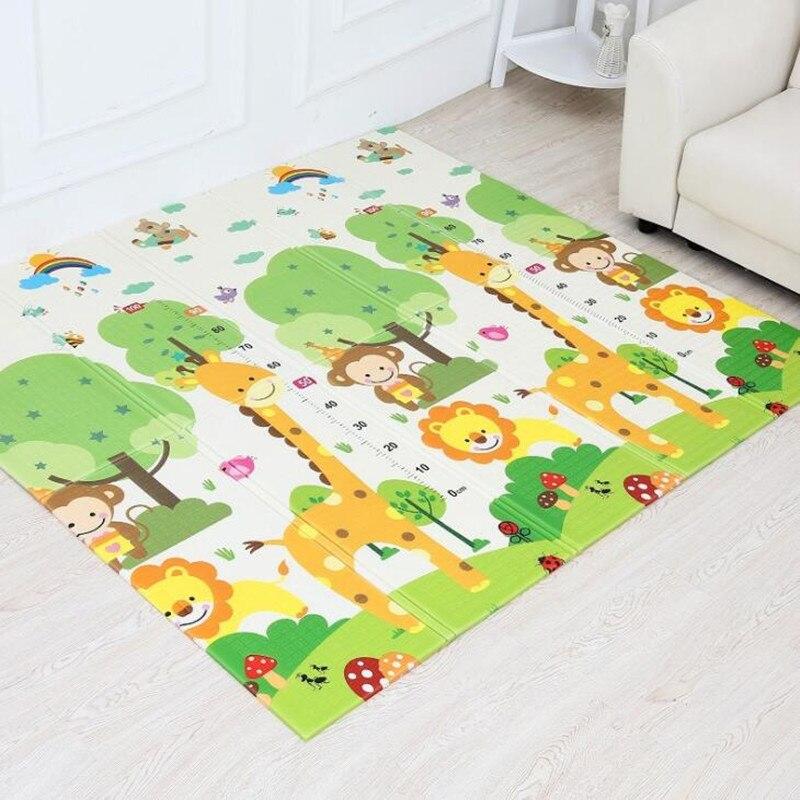 Tapis de jeu pliable pour bébé XPE pour enfants tapis rampant Puzzle jouets tapis de jeu tapis de développement pour enfants tapis mousse sol souple bébé Gym