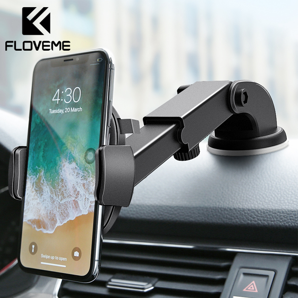 FLOVEME Car Phone Holder Stand For iPhone XS 8 Windshield Mount in Mobile Samsung S10