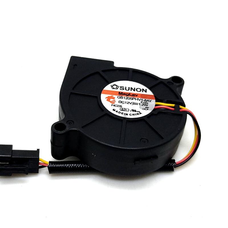 3D Printer Blower Original New For Sunon 5015 12V Magnetic Suspension Mute Blower Gb1205phv1-8ay 5cm Speed Measuring Turbofan
