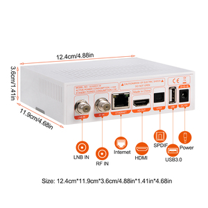 Image 5 - Спутниковый ТВ приемник GTMedia GTC, ресивер DVB S2/C/T2/ISDB T, Android 6,0, Приставка Smart TV Amlogic S905D, 2 ГБ, 16 ГБ, декодер H.265, поддержка m3u