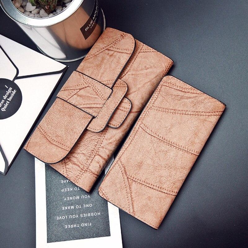 Portefeuilles femmes 2019 nouveau design à la mode RFID blocage femmes pu cuir dame embrayage portefeuille sac à main pour carte de crédit