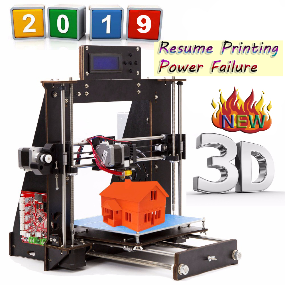 Drukarka 3D Prusa i3 Reprap MK8 MK2A ekran LCD Imprimante impresora 3d Drucker awaria zasilania wznowić drukowanie