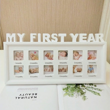 Photo-Frame My-First-Year Memory Pictures Plastic Growing Baby Souvenirs-Month DIY Gift-Display