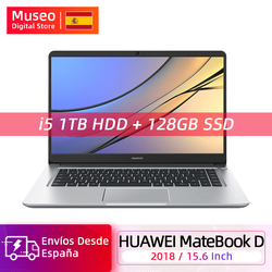 Глобальная версия Huawei MateBook D 2018 15,6 ''2018 Intel i5-8250U MX150 8GB 128GB SSD ТБ HHD Windows 10 Home 64 Bit