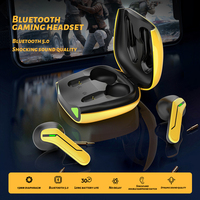 Auriculares inalámbricos TWS para videojuegos, cascos con Bluetooth 5,0, con micrófono, estéreo, graves, deportivos, resistentes al agua