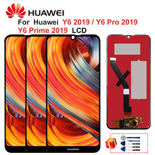 Oryginalny dla Huawei Y6 2019 LCD Y6 Pro 2019 MRD-LX1N Y6 prime 2019 ekran dotykowy Digitizer zgromadzenia części dla Honor 8A