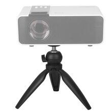 """Fit 1.5Kg uchwyt projektora Mini statyw Tabletop 1/4 """"śruba mocująca przenośny DLP TD90 projektor statyw biurko Beamer uchwyt stojak"""
