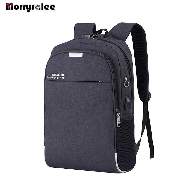 Laptop Backpack USB Charging 15.6 Inch Anti Theft Women Men School Bags For Student  High Quality  Men's Bag