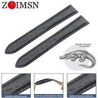 ZLIMSN Original replacement alligator strap For RONDE DE CARTIER Providing Private Customization Service Watchband