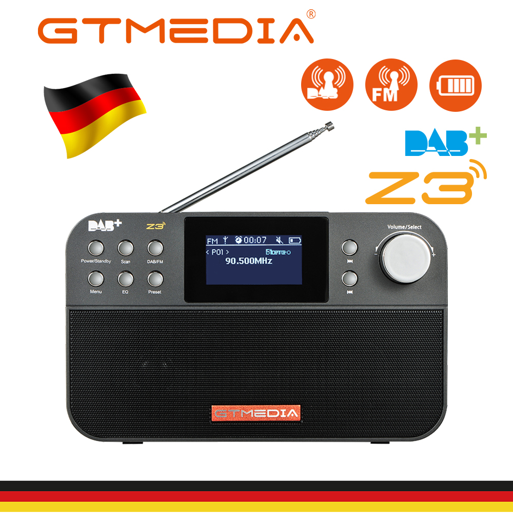 GTMEDIA Z3B Z3 DAB+ Receiver Portable Digital DAB FM Stereo <font><b>Radio</b></font> Receptor With 2.4 Inch TFT Display Bluetooth Alarm Clock image