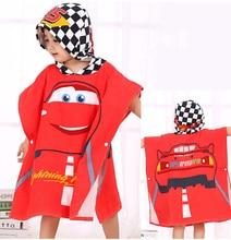 Disney Children hooded bath towel cartoon Mickey Minnie Mouse Frozen elsa cars kids Boy girl cotton soft absorbent  beach