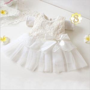 0-1 Yrs Newborn Baptismal Dress White Baby Girl Dress Angel Dress Birthday Butterfly Baby Girls Infant Dresses(China)