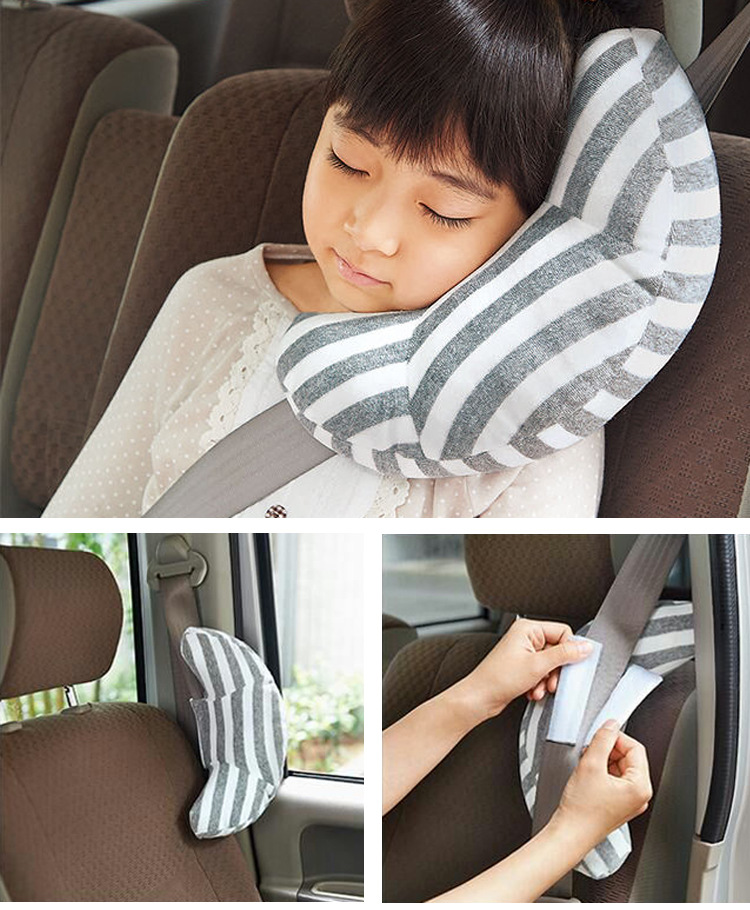 Hot New 1 Pc Children Auto Car Seat Headrest Pad Shoulder Support Cushion Cotton Soft Sleep Pillow High Quality