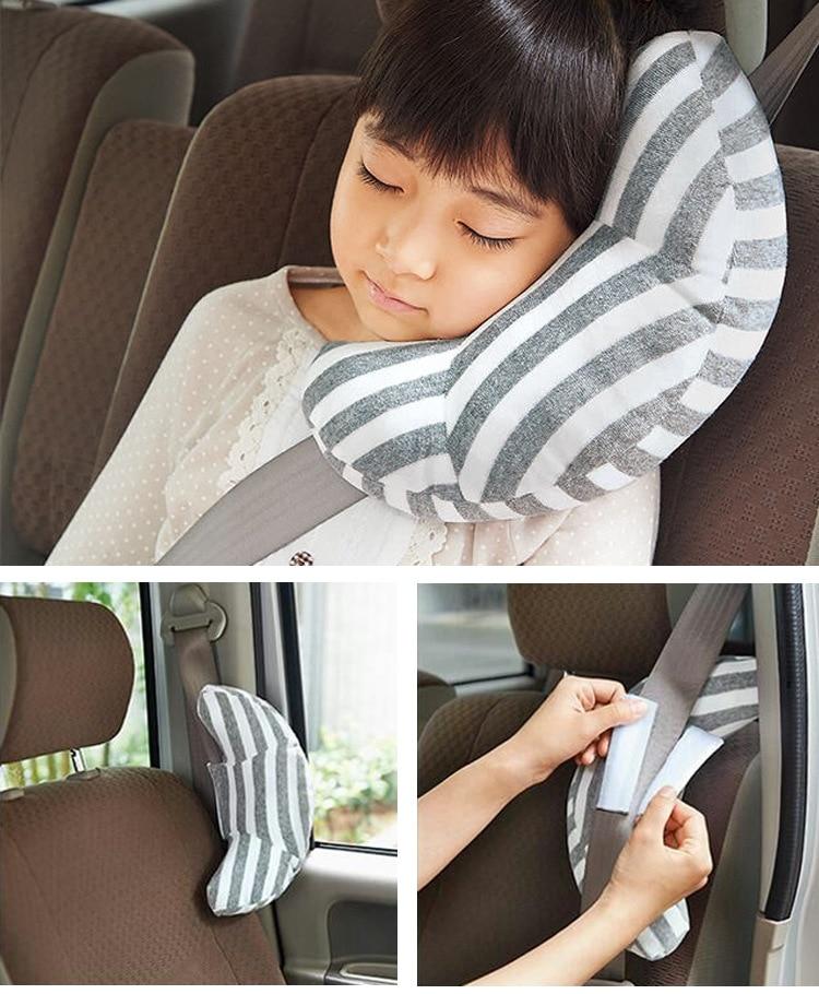 Hot New 1 Pc Children Auto Car Seat Headrest Pad Shoulder Support Cushion Cotton Soft Sleep Pillow High Quality