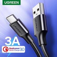 Tipo C Cabo Ugreen USB para Xiaomi Redmi Nota 7 mi9 USB C Fio de Cabo para Samsung S9 Carregamento Rápido USB-C Cabo Taxa de Tel
