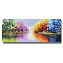 Landscape Oil Painting On Canvas For Living Room Home Decor Pictures  Framed Picture 100% Handpainted Street view
