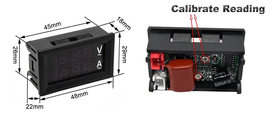 0.56 inch digital ammeter voltmeter
