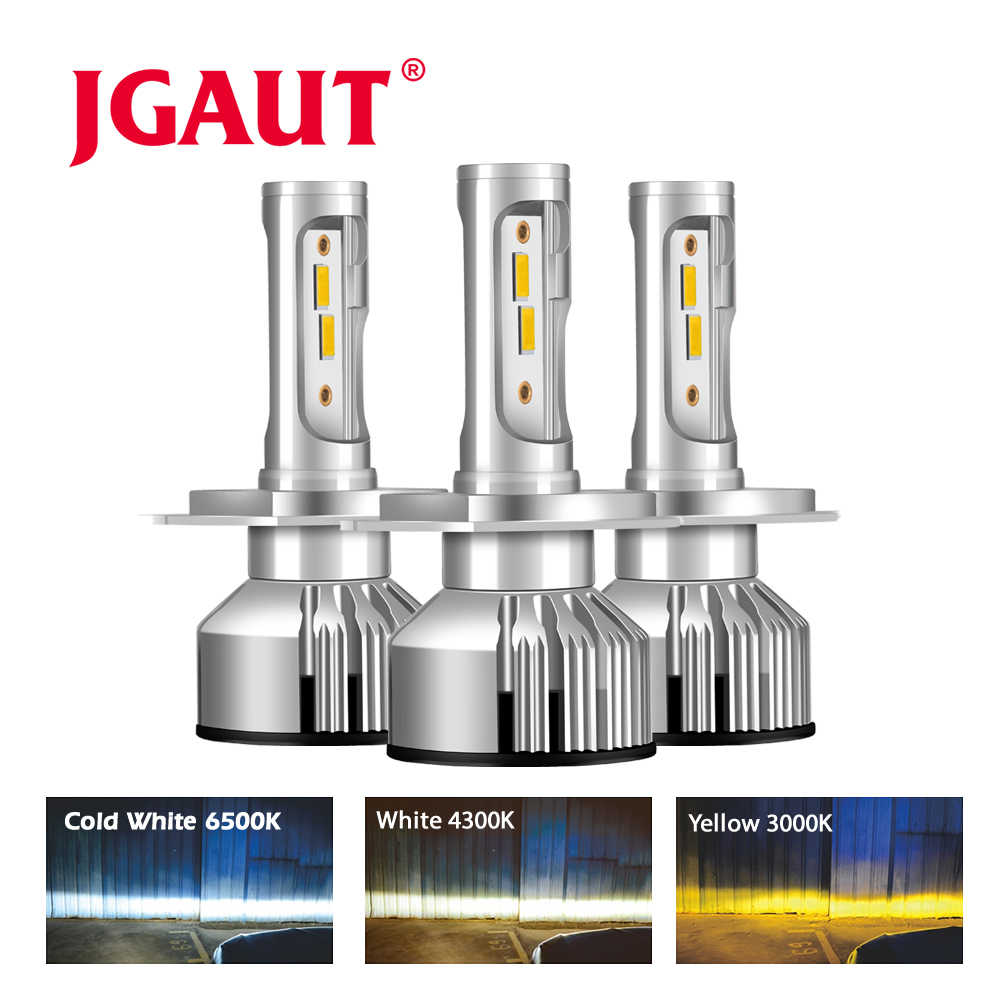JGAUT Car Headlight H7 LED H4 LED H1 H11 H3 H13 H27 880 9006 9007 72W 8000LM 3000K 6500K 12V 24V Auto Headlamp Fog Light Bulb
