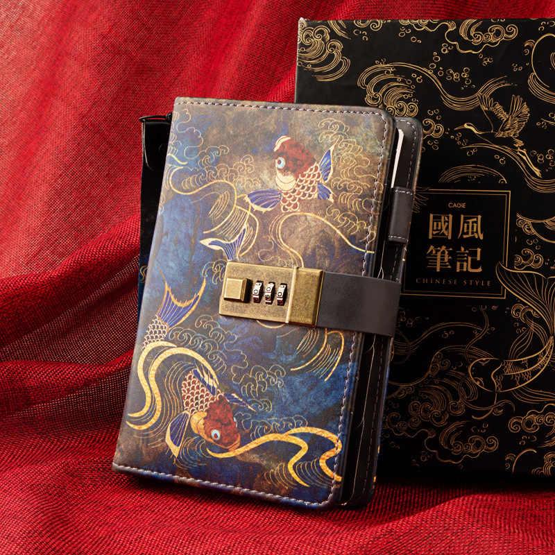 A6 vintage pasta caderno bala diário bonito retro bloco de notas espiral diário planejador organizador maravilhoso manual anel nota livro