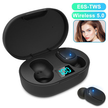 E6S Mini TWS V5.0 Bluetooth Wireless Earphone Auriculares Sport Earphones Headset Bass Stereo Sound Earbuds Micro Charging Box