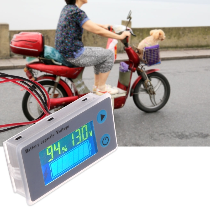 Image 3 - Battery Capacity Indicator Voltage Monitor 10 100V Universal Battery Capacity Voltmeter Tester LCD Car Lead acid Indicator