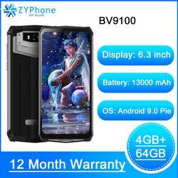 Blackview BV9100 оригинальный Водонепроницаемый прочный смартфон 13000 мА/ч, 4 Гб 64 Гб на открытом воздухе мобильный телефон Android 9,0 Helio P35 4G мобильный т...