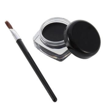 1 Eyebrow Gel + 1 Brush Women Eyeliner Brush Waterproof Professional and Lasting Eyeliner Black Glue Beauty Tool Makeup Lady