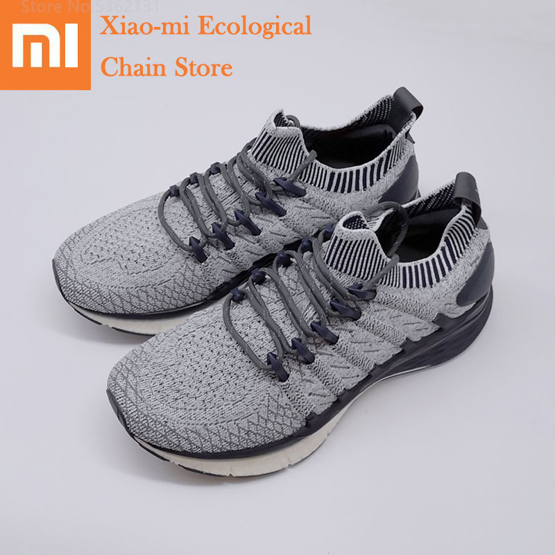 Xiaomi Mijia Sneakers 3 Men Outdoor Sports Shoes Uni-moulding 3D Fishbone Lock System Breathable Knitting Upper Running Shoes