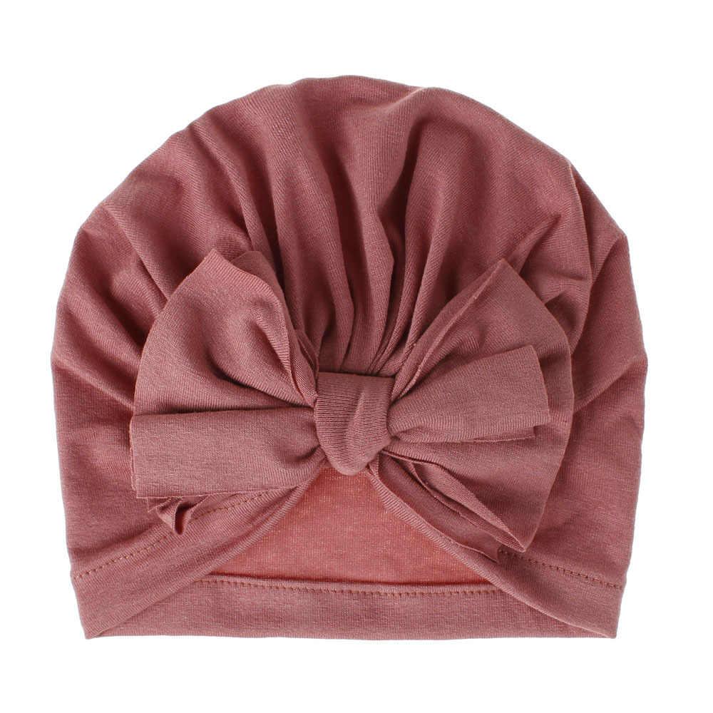 ילדי תינוק בנות תינוק כובעי Boho כובע כפה צעיף טורבן ראש גלישת שווי יילוד צילום props לסרוג כובע זקן 15