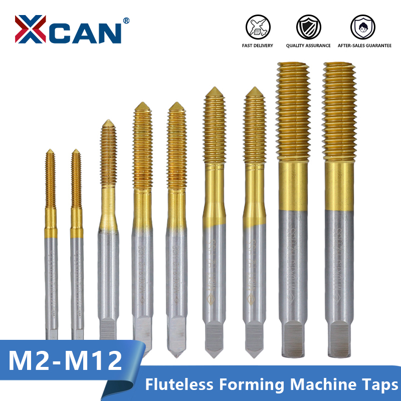 XCAN Extrusion Taps M2-M12 Fluteless Forming Machine Plug Taps Metric Screw Thread Tap Drill Metal Threading Tools