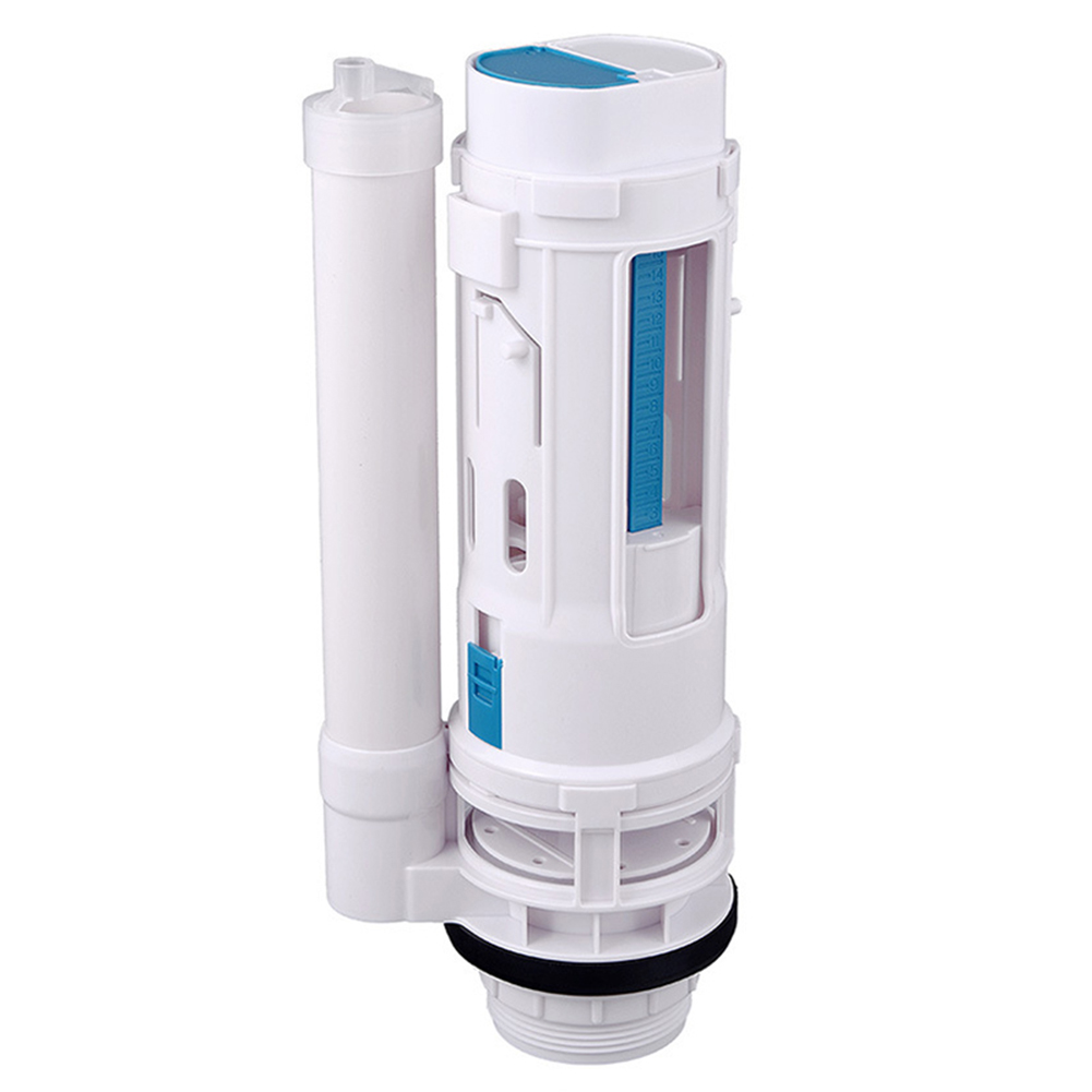 Newest Water Tank Connected 2 Flush Fill Toilet Cistern Inlet Drain Button Repair Parts Water Outlet image