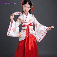 Детский традиционный костюм ханфу китайские танцевальные костюмы сценическое платье танцевальный костюм национальный костюм ханьфу